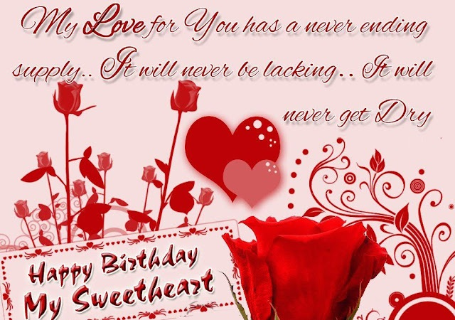 Soft Birthday Wishes for Sweetheart