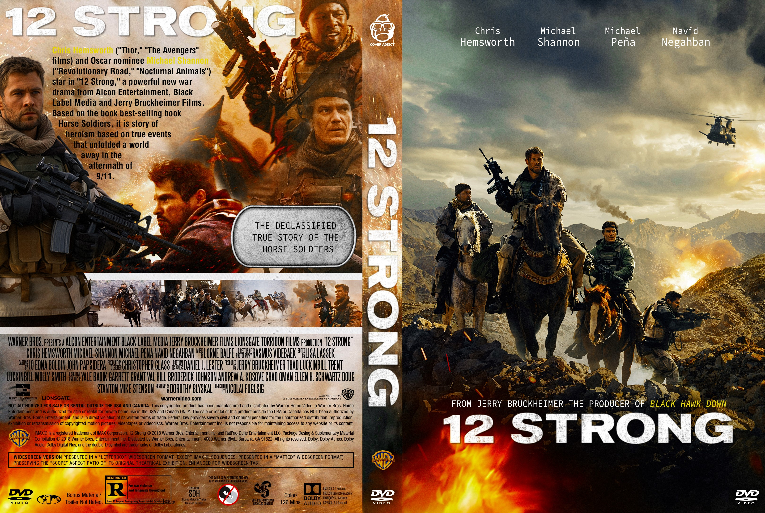 12 Strong Dvd Cover Cover Addict Dvd And Bluray Covers