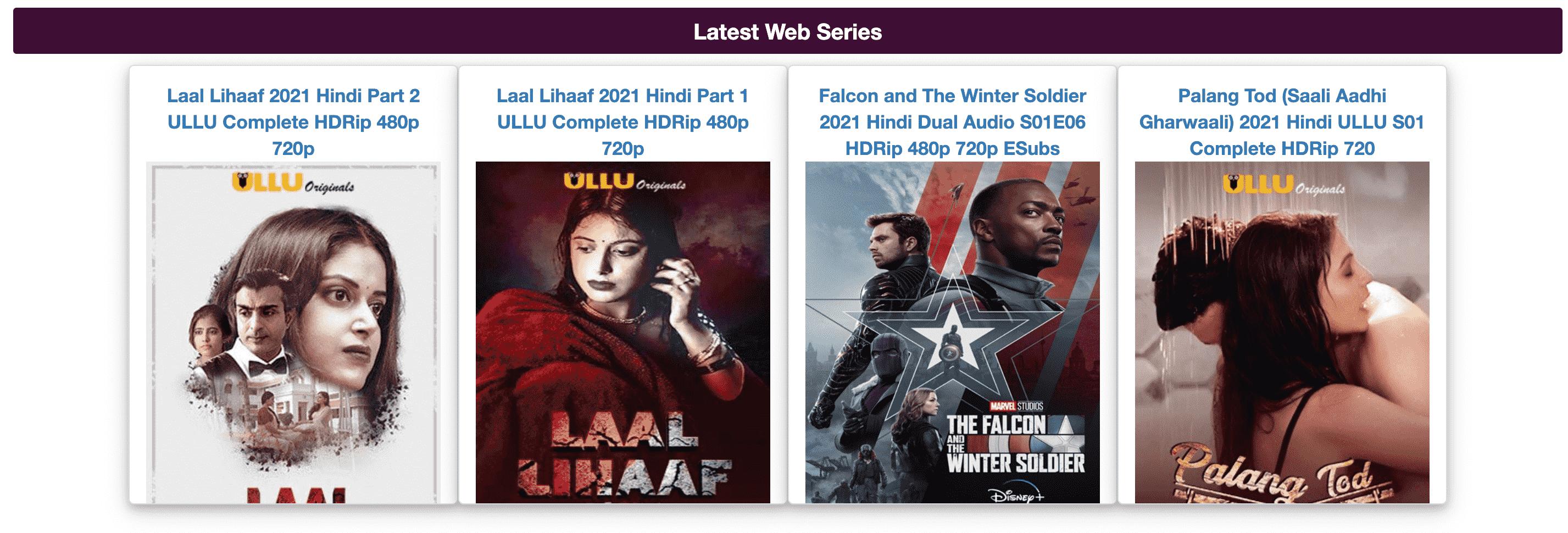 Movie4me Latest Web Series