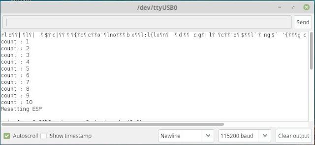 ESP8266 software reset