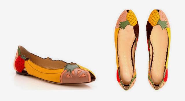 Resultado de imagem para sapatos com estampa de frutas