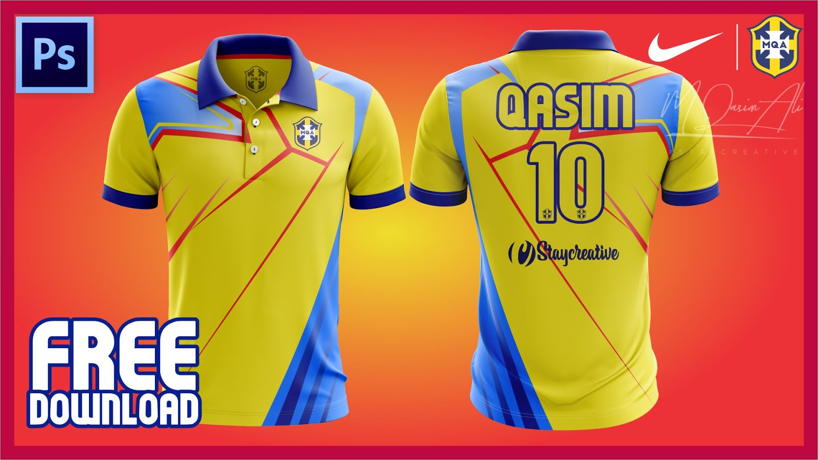 Download Epic Cricket Shirt Design Tutorial + Free Yellow image PSD ...