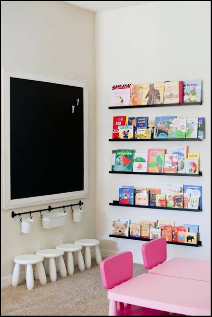 diy bookshelf wall kids