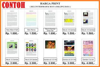 contoh biaya print hitam dan warna