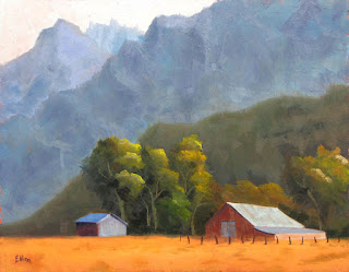 landscape fall colors oil painting by Steve Ellison - artist in Reno, Nevada