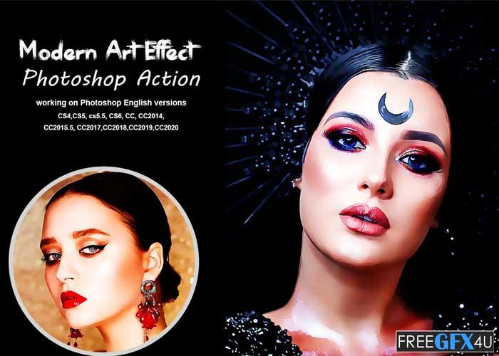 Modern Art Effect Photoshop Action