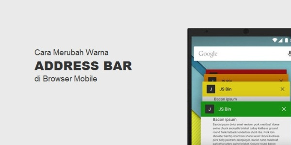 Cara Merubah Warna Address Bar di Browser Mobile
