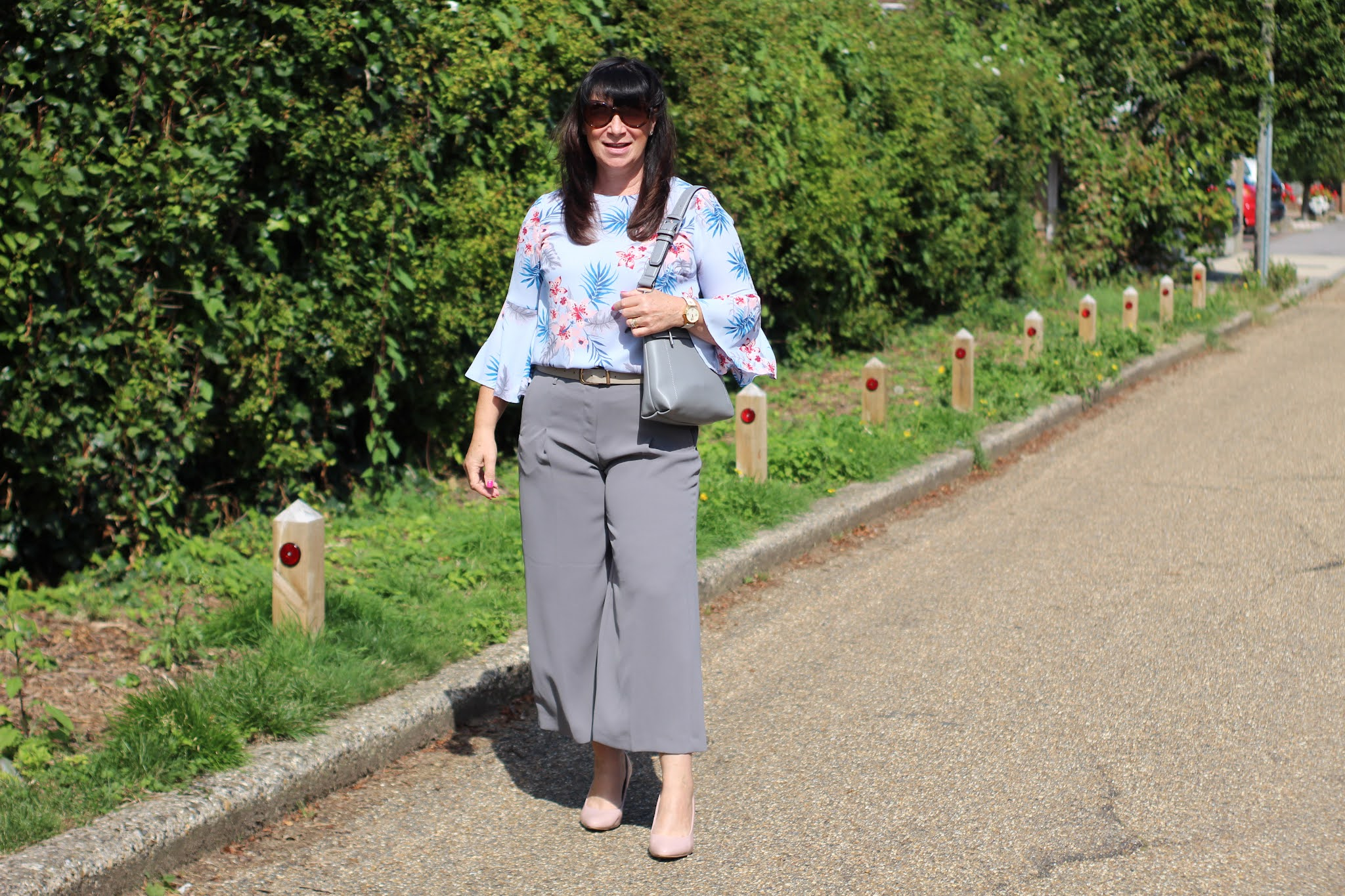Jacqui from Mummabstylish in top with statement sleeves