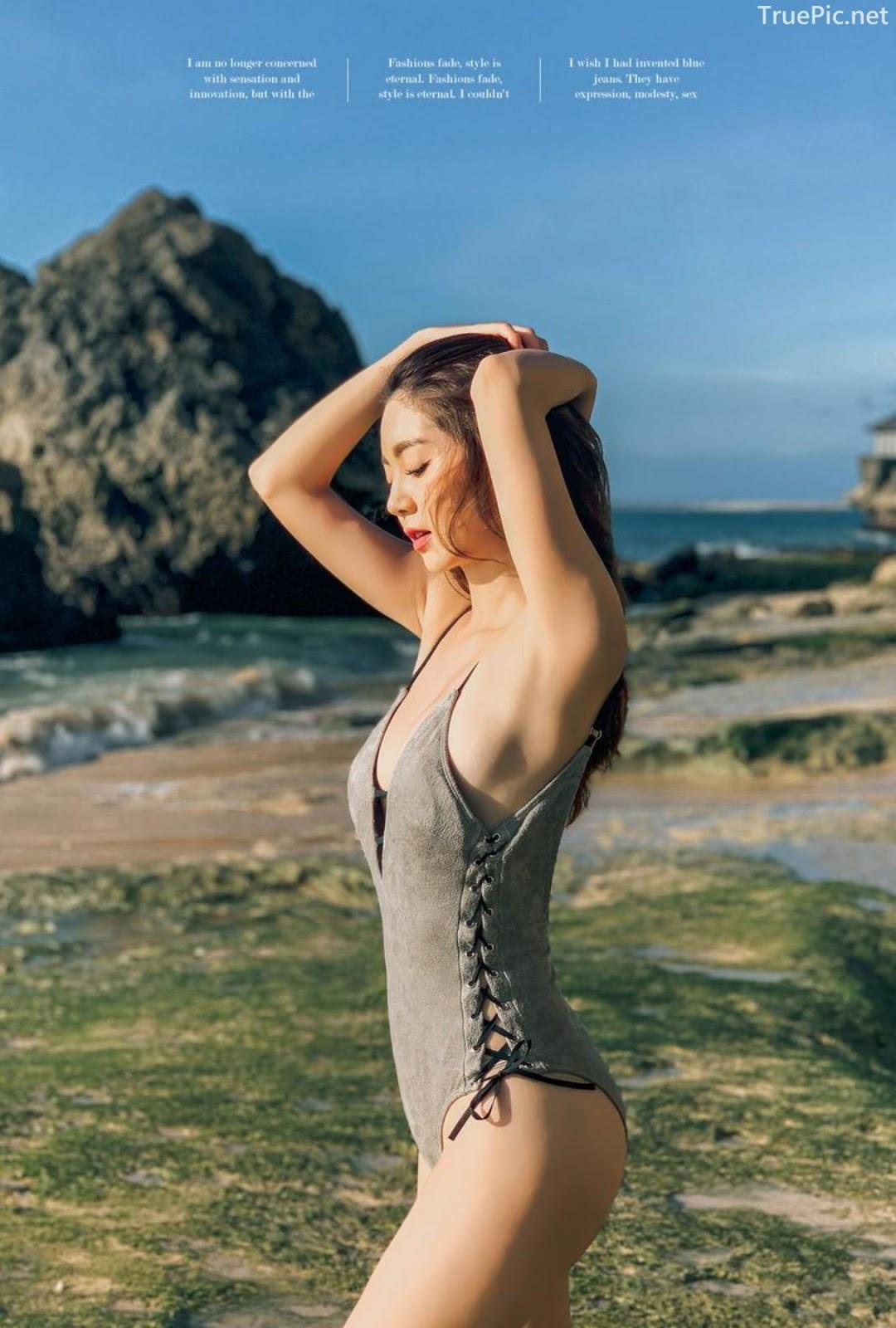 Korean fashion model Lee Chae Eun - Push Monokini - Picture 9