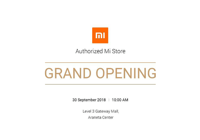 Xiaomi will open its 4th Authorized Mi Store in the Philippines on