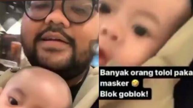 Viral Bapak Gendong Anak Tak Bermasker di Mal: Orang Pakai Masker Tolol