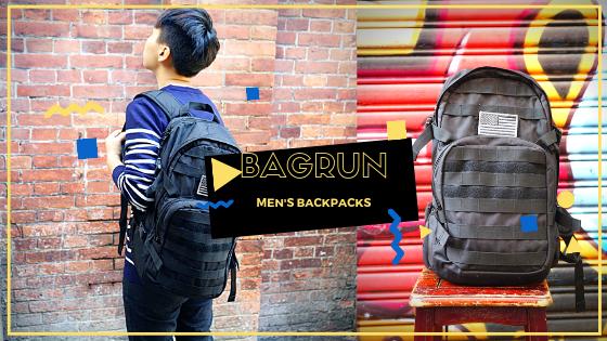 【男生後背包】bagrun都會玩家軍事風格後背包 上班出遊一包搞定