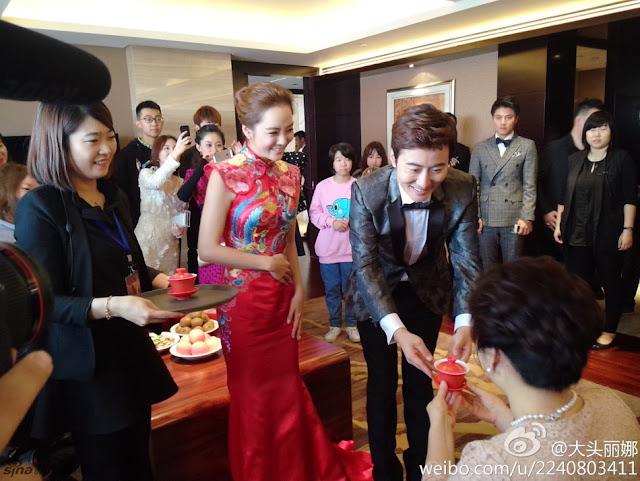 Chae Rim Gao Ziqi wedding qipao cheongsam