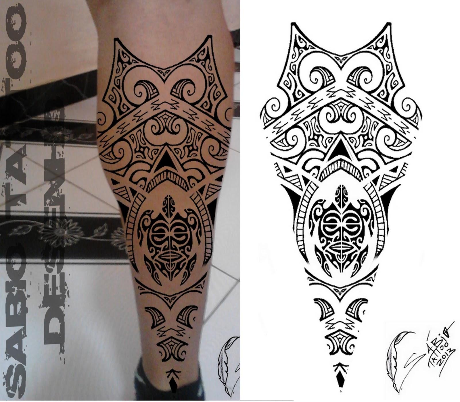 Sabio Tattoo Tatuagem Profissional Tatuagem Maori Panturrilha