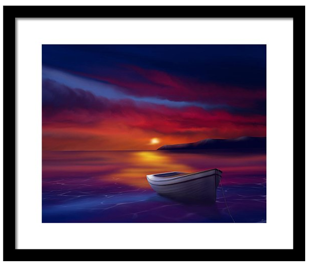 Adrift Under a Fading Sun art by Mark Taylor
