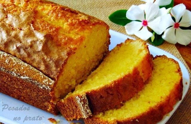 Receita do bolo de iogurte com aroma de limão