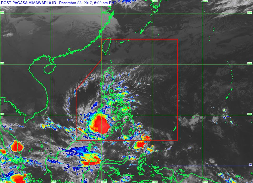 'Bagyong Vinta' PAGASA weather update December 23, 2017