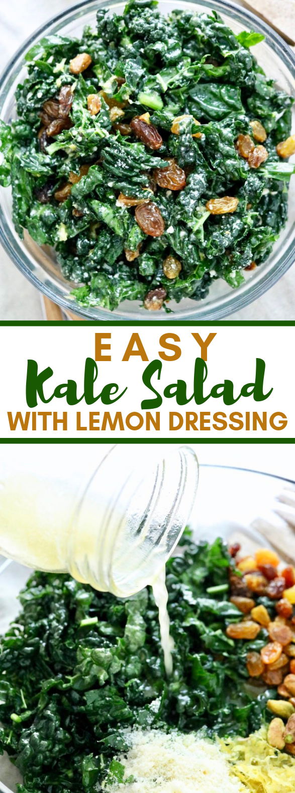 EASY KALE SALAD – WITH LEMON DRESSING #vegetarian #superfood
