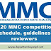 2020 MMC competition schedule, guidelines and reviewers