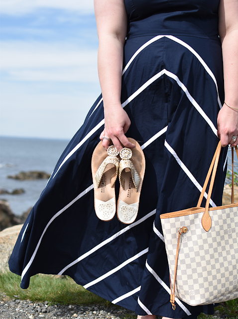 eShakti custom dress summer wedding guest dress maxi dress jack rogers sandals palm springs sandals louis vuitton neverfull damier azur pearl bracelet ogunquit maine marginal way maine resort wear beach wear nautical dress