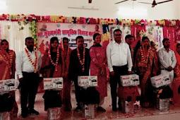 मुख्यमंत्री सामूहिक विवाह योजना : थामा एक दूजे का हाथ,लिए सात फेरे