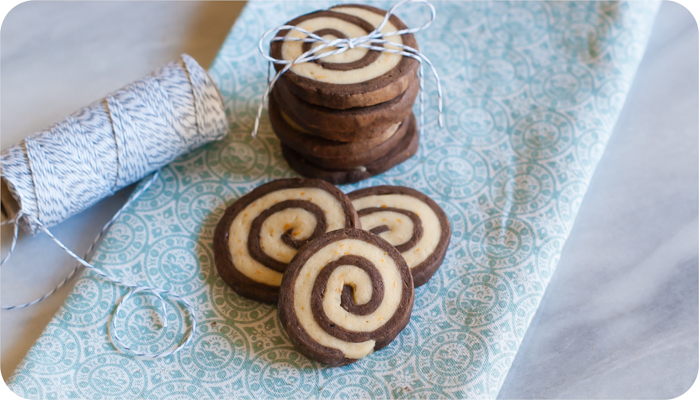 chocolate orange pinwheel cookies | bakeat350.net