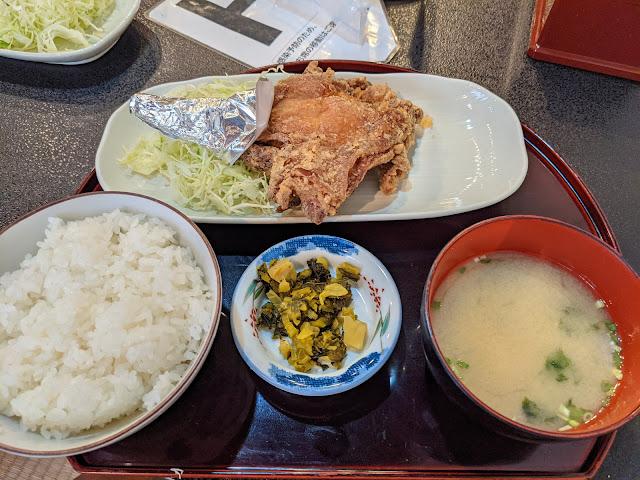 モモ唐揚げ定食【島原グルメ】鶏の白石 南島原本店のもも唐揚げが最高すぎました!