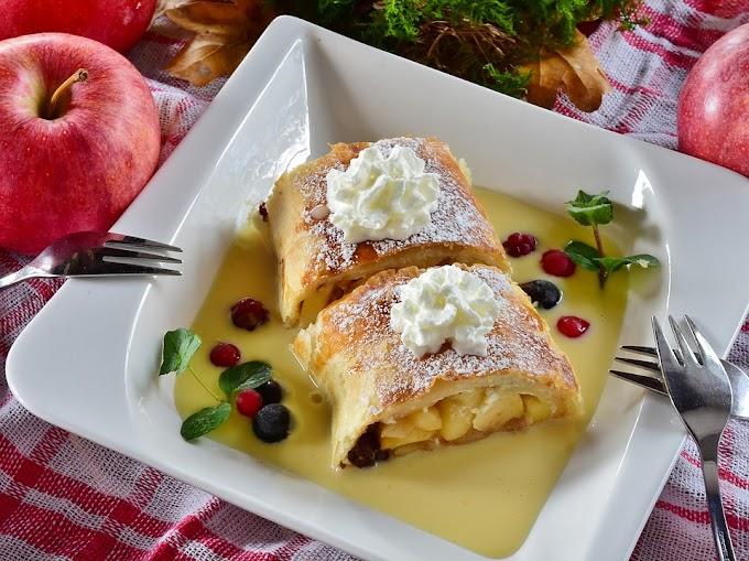 Strudel de manzana con crema pastelera