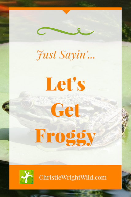 Let's Get Froggy || motivation | Just Do It | working toward a goal | writing tip