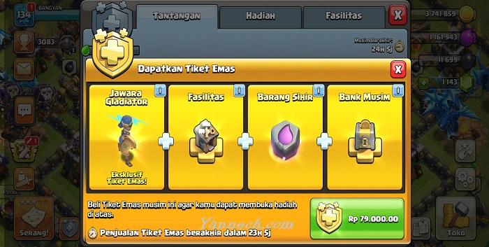Cara Beli Gold Pass Clash Of Clans Pakai DANA