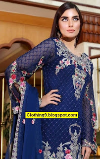 Noor Embroidered Chiffon 2016-17 by Saadia Asad