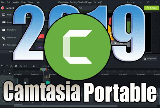 تحميل برنامج Camtasia Studio 2019 Portable عملاق تصوير سطح المكتب نسخة محمولة مفعلة اخر اصدار