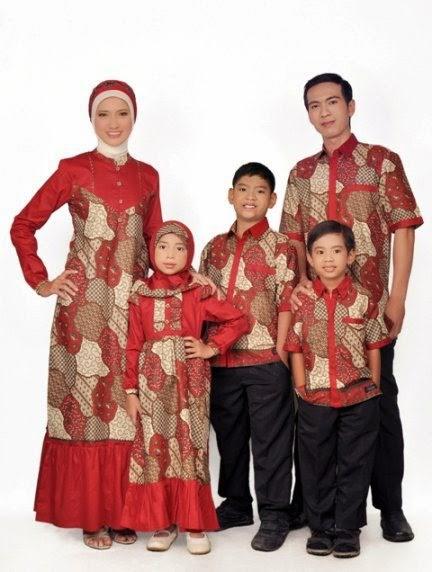 Model Baju Batik Sarimbit Keluarga Gamis Murah