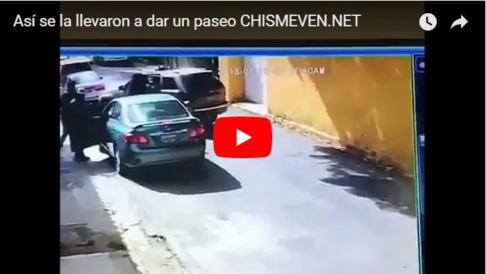Así la secuestraron y le robaron el carro en Sebucán - Municipio Sucre