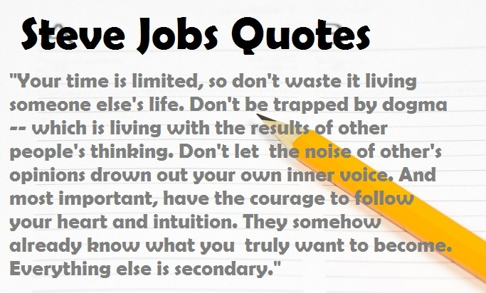 10 Famous Quotes From Steve Jobs Apple Cofounder Former Ceo