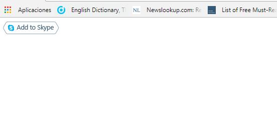 """Figura 22: Al ejecutar el código de inserción en un sencillo html podemos acceder al botón """"Agregar a Skype""""."""