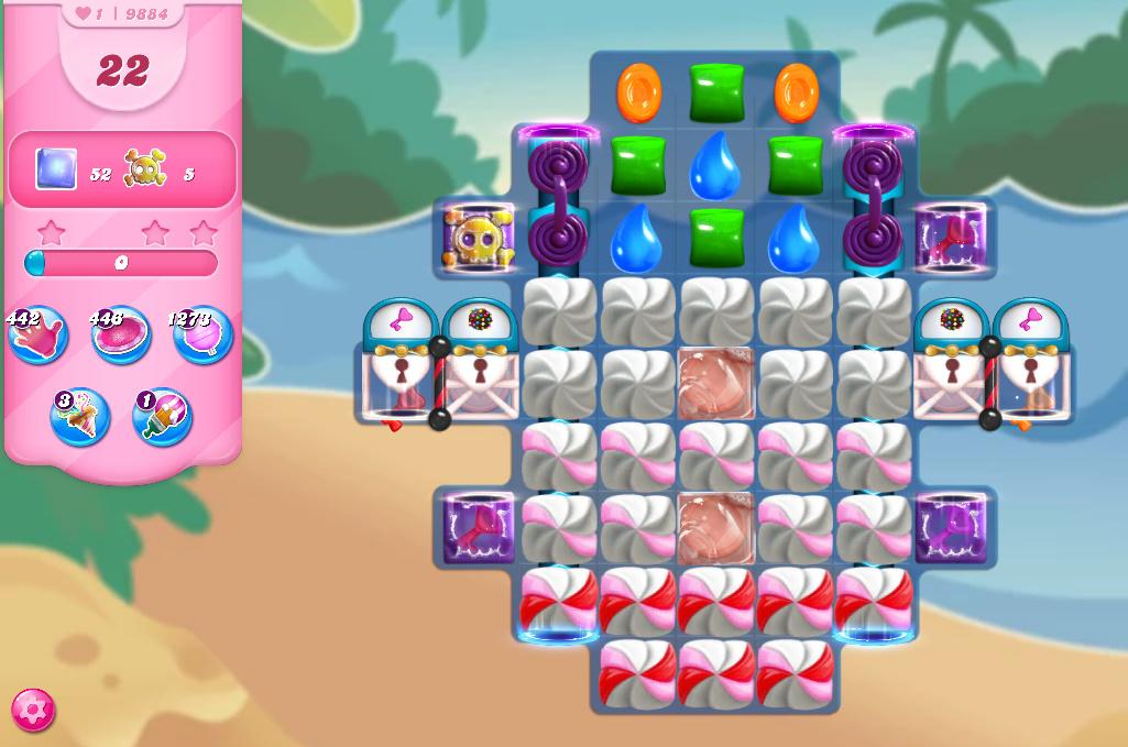 Candy Crush Saga level 9884