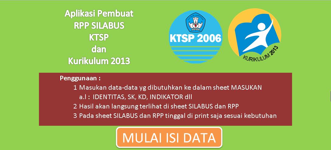 Aplikasi untuk Membuat RPP SILABUS Kurikulum 2013 dan KTSP