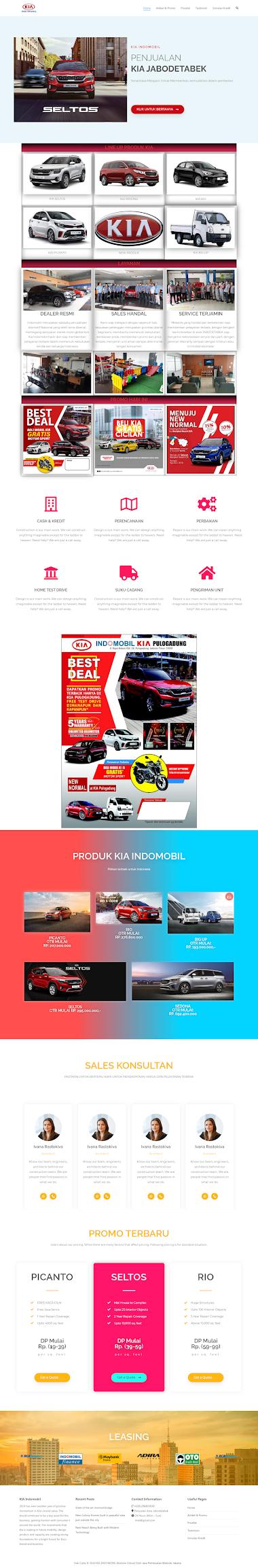 Website Sales Mobil Kia Jakarta
