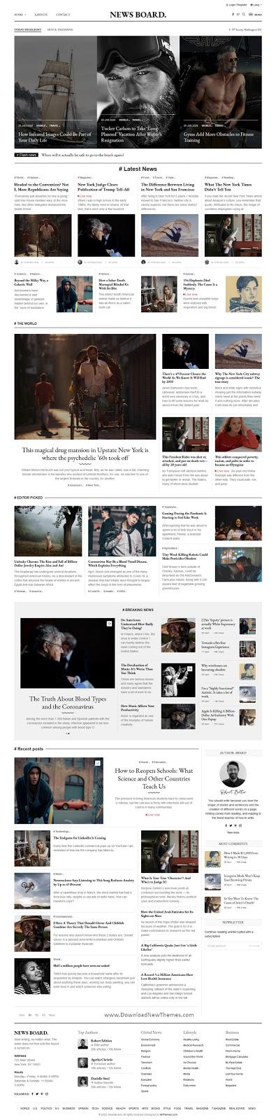 Creative Blog Magazine Publisher Template