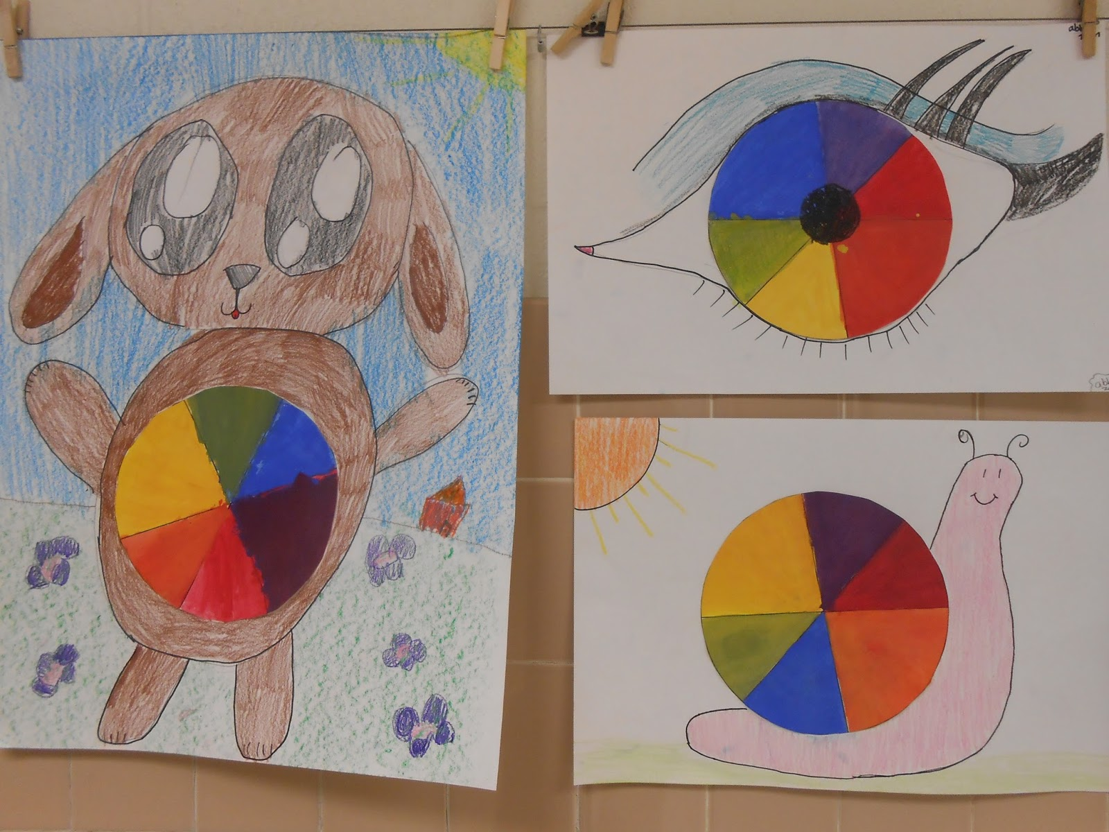 Color wheel art projects for kids -  Transform Their Color Wheels Into Part Of A Realistic Drawing I Was Very Impressed With The Ideas Kids Developed And The Effort They Put Into Adding