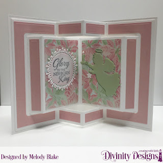 Stamp Set: Good Tidings, Custom Dies: Angel, Book Fold Card with Layers, Fancy Circles, Paper Collection: Christmas 2018