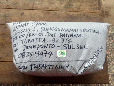 Benih padi yang dibeli   ANWAR SYAM Jeneponto, Sulsel.  (Setelah packing karung).
