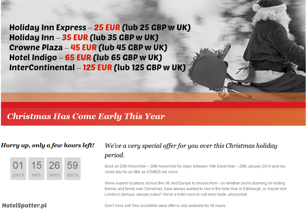 Promocja Christmas Has Come Early This Year w IHG, Hotel Spotter