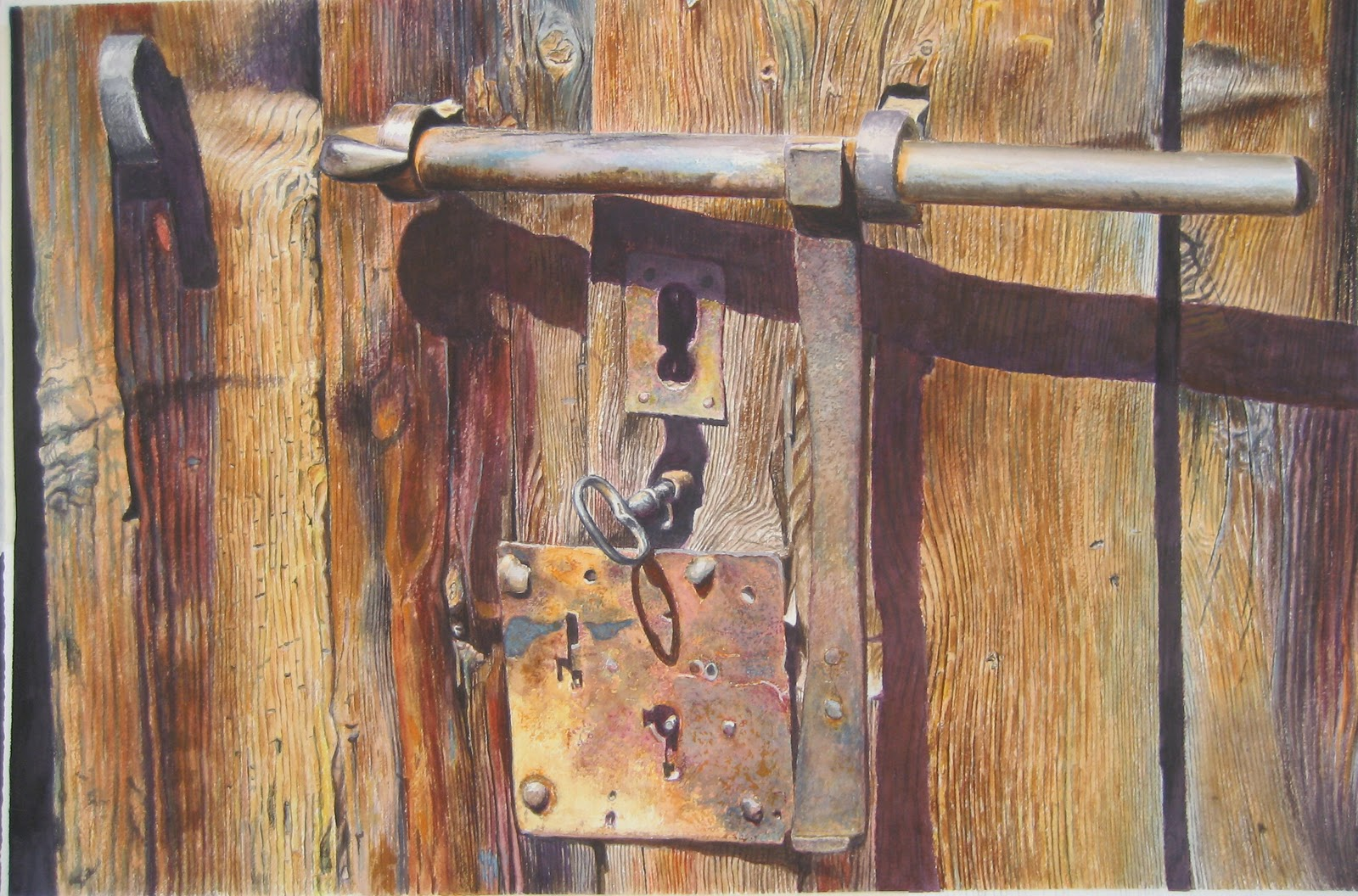 pinturas cuadros lienzos puertas de casa viejas al oleo