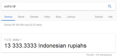 Cara Cek Kurs Dollar ke Rupiah dengan Search Google