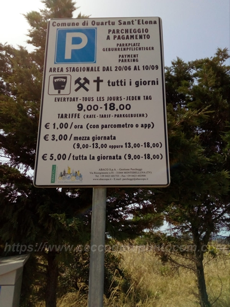 Parcheggi Poetto Quartu Sant'Elena