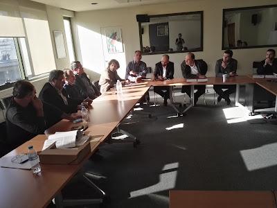 Συνάντηση βουλευτών του ΣΥΡΙΖΑ και εκπροσώπων των Τ.Ο.Ε.Β. Ηπείρου με τον υπουργό Περιβάλλοντος και Ενέργειας, Γ. Σταθάκη