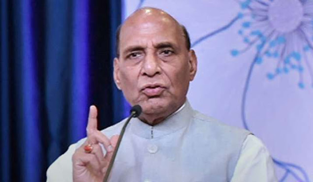Indian Defence Minister Rajnath Singh