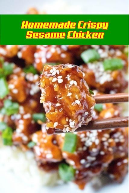 #Homemade #Crispy #Sesame #Chicken